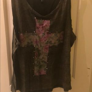 Army green tank with cross